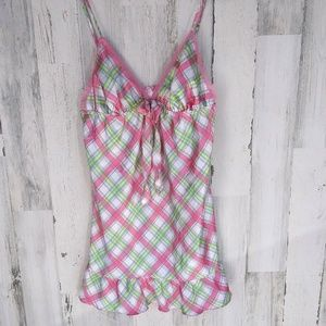 Victoria's Secret Silky Smooth Plaid Slip NWT
